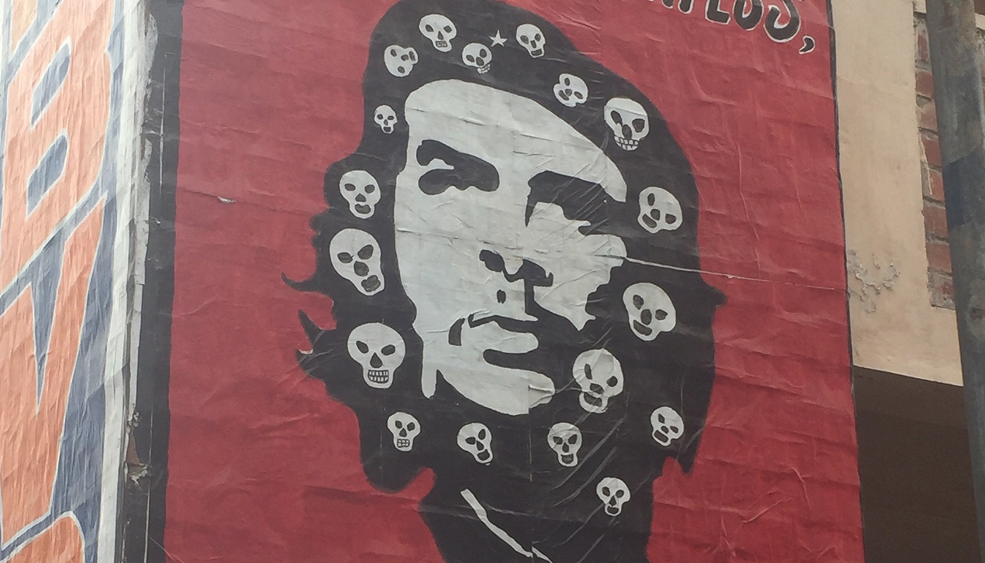 Mural of Che on wall