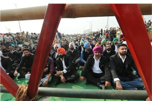 Sit in protest in India